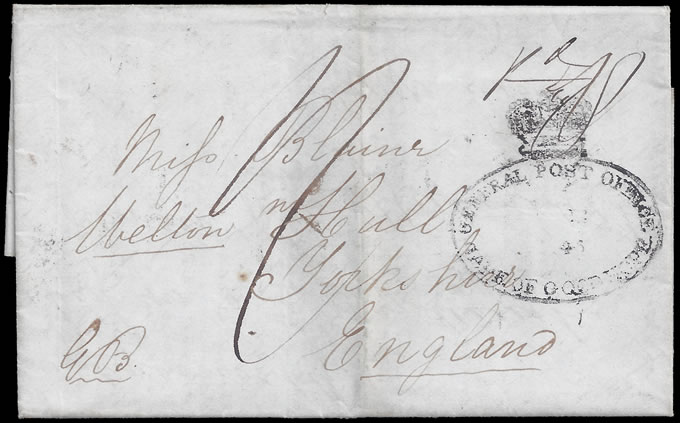 CAPE OF GOOD HOPE 1846 WAR OF THE AXE SOLDIERS LETTER, RARE