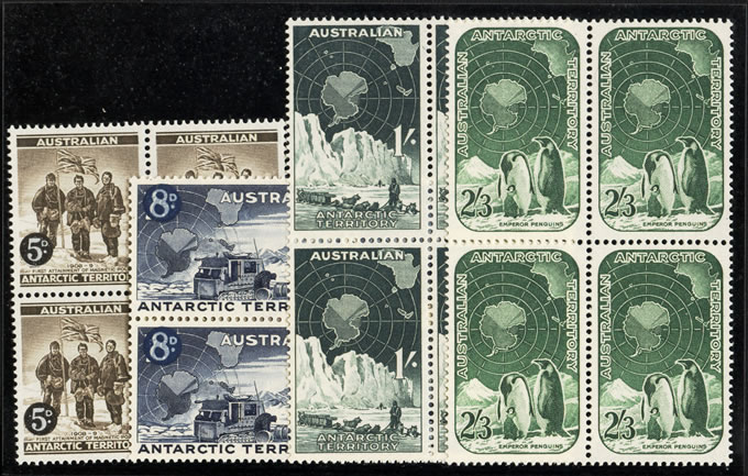 AUSTRALIA ANTARCTIC 1959 FULL SET VF/UM BLOCKS