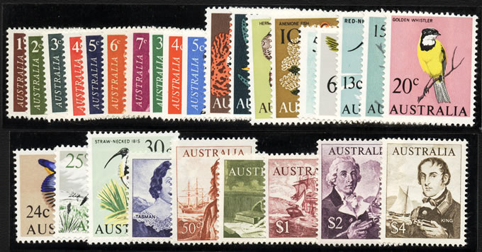 AUSTRALIA 1966-73 SET TO $4 UM WITH COILS