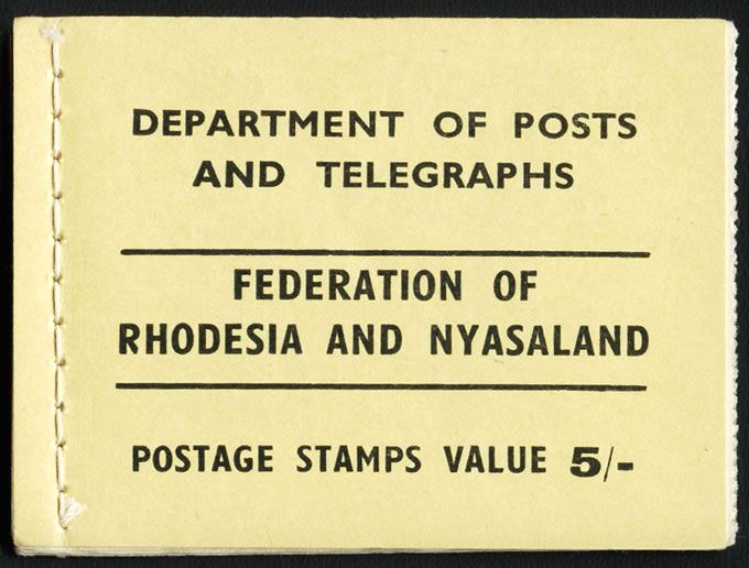 Rhodesia & Nyasaland Booklet 1955 5/- Yellow