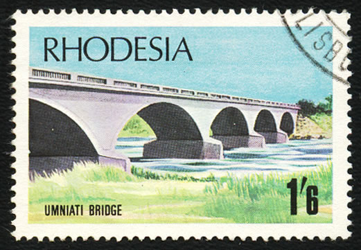 Rhodesia 1969 1/6 Bridge, White Arch Variety VF/U