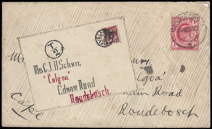 South Africa 1911 Hand Illustrated Interprovincial Letter