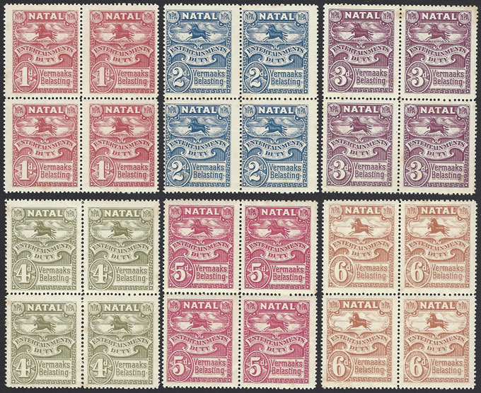 South Africa Revenues 1925 Natal Entertainment Duty Blocks