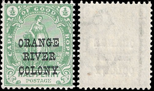 "Orange River Colony 1900 ½d ""No Stop"" VF/M"