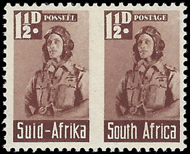 SOUTH AFRICA 1942 BANTAM 1½D ROULETTE OMITTED SUPERB M