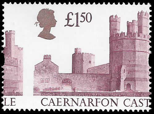 GREAT BRITAIN 1988 £1.50 CAERNARFON CASTLE MISPERF