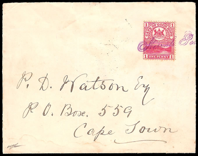 CAPE OF GOOD HOPE 1900 NORVAL'S PONT FANCY CANCELLER, RARE