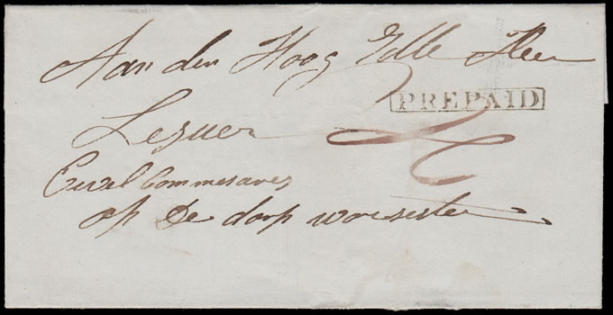 CAPE OF GOOD HOPE 1848 PREPAID HANDSTAMP ON WRAPPER