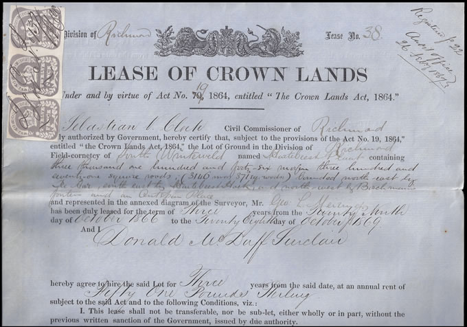 Cape of Good Hope 1864 12d Embossed, Wonderful Crown Lease - Click Image to Close