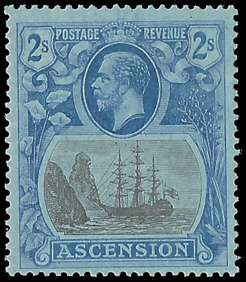 ASCENSION 1924 BADGE ISSUE 2/- CLEFT ROCK VF/UM