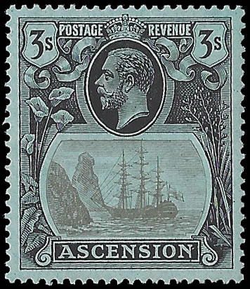 ASCENSION 1924 BADGE ISSUE 3/-TORN FLAG SUPERB UM