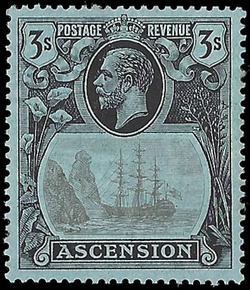 ASCENSION 1924 BADGE ISSUE 3/- CLEFT ROCK VF/M