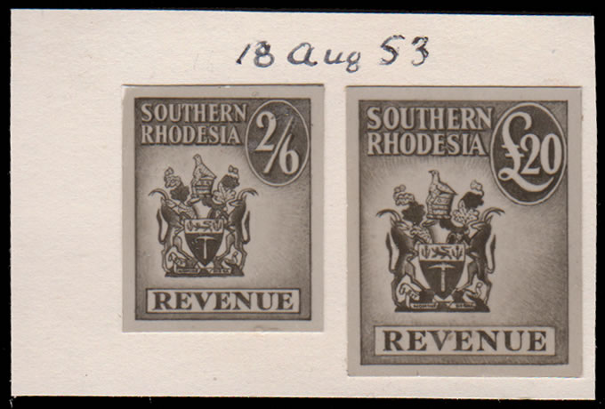 SOUTHERN RHODESIA REVENUES 1953 PRINTERS RECORD PHOTO-ESSAYS