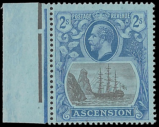 ASCENSION 1924 BADGE ISSUE 2/- BROKEN MAINMAST VF/UM