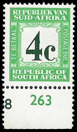 SOUTH AFRICA POSTAGE DUE 1969 4C WMK RSA, AFRIKAANS AT TOP - Click Image to Close