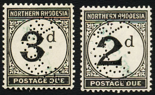 Northern Rhodesia Postage Due 1929 Receiving Authority Specimen