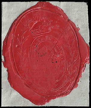 "CAPE OF GOOD HOPE 1806 ""MAY BRITAIN FLOURISH"" WAX SEAL"