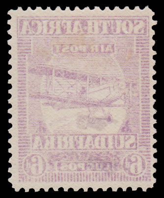 SOUTH AFRICA 1925 6D AIRMAIL SPECTACULAR OFFSET