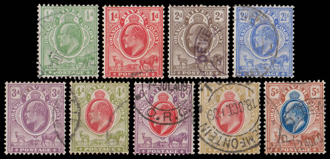 Orange River Colony 1903-04 KEVII ½d - 5/- Full Set VF/U