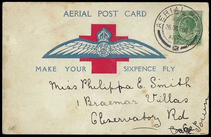 South Africa 1918 Second Cape Town Flight Card