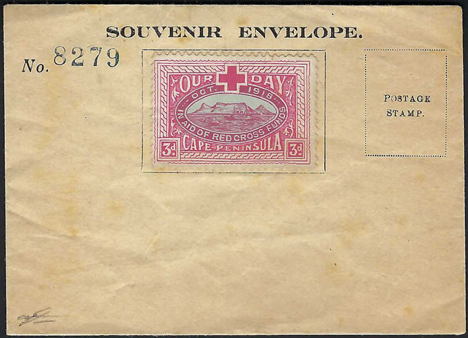 South Africa 1918 Flights Souvenir Envelope with Our Day Label