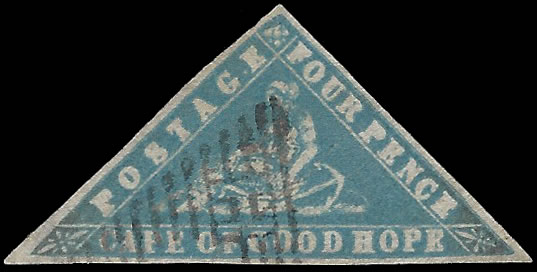 CAPE OF GOOD HOPE 1861 4D WOODBLOCK FILLER WITH CERT