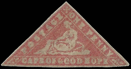 CAPE OF GOOD HOPE 1861 1D WOODBLOCK FILLER WITH CERT