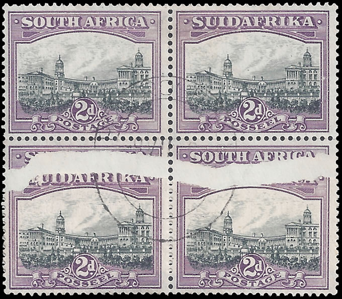 SOUTH AFRICA 1930 2D OPENED PAPER JOIN, SPECTACULAR