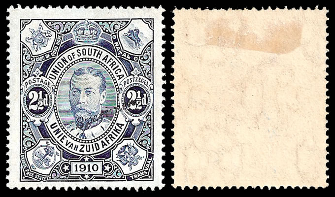 South Africa 1910 2½d Handstamped Specimen Type SA1