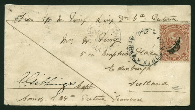 TRANSVAAL 1880 SOLDIERS LETTER