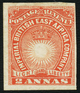 BRITISH EAST AFRICA 1890 2A IMPERFORATE