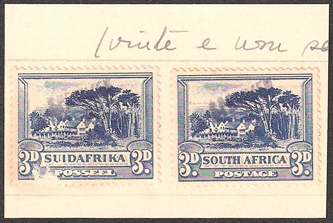 SOUTH AFRICA 1933 3D PORTUGUESE GOA UPU ARCHIVE SPECIMENS
