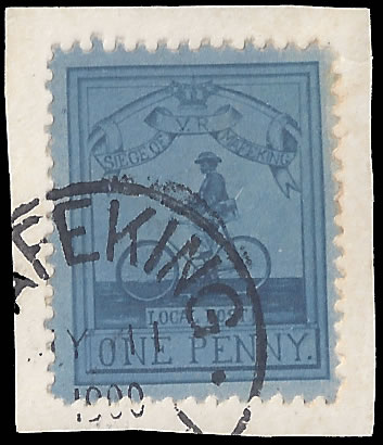 MAFEKING SIEGE 1900 SG17, 1D CYCLIST VF/U ON PIECE