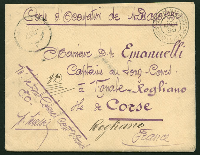 MADAGASCAR 1899 FRENCH EXPEDITIONARY SOLDIER'S LETTER