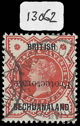 BECHUANALAND 1890 ½D OVERPRINT INVERTED VF/U, CERT
