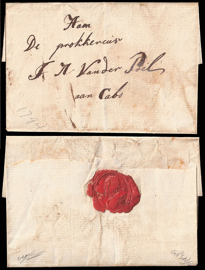 CAPE OF GOOD HOPE 1794 BRIEFSTOK LETTER