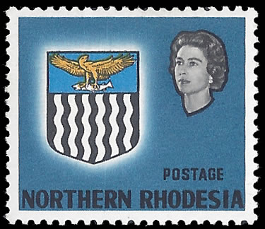 NORTHERN RHODESIA 1963 20/- VALUE OMITTED VF/UM, RARE