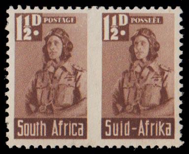 South Africa 1942 Bantam 1½d Roulette Omitted Fair M