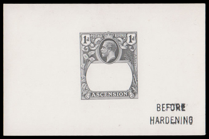 ASCENSION 1924 BADGE ISSUE 1D DIE PROOF BEFORE HARDENING