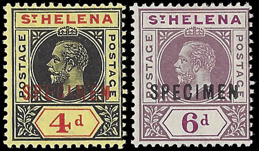 SAINT HELENA 1913 KGV KEYPLATES F/M SPECIMENS