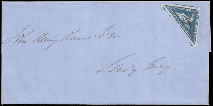CAPE OF GOOD HOPE 1864 LOVELY ALIWAL NORTH MANUSCRIPT CANCEL