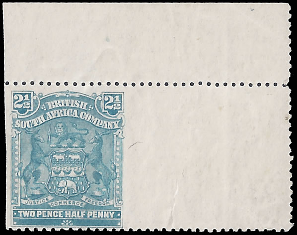 Rhodesia 1898 Arms 2½d Imperf Vertically