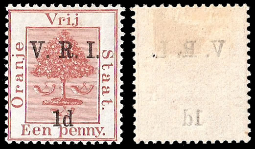Orange Free State 1900 VRI SG102 1d Error of Colour VF/M
