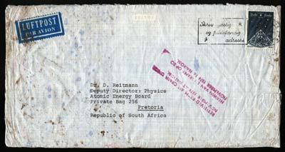SOUTH AFRICA 1974 NAIROBI LUFTHANSA CRASH, DANISH ACCEPTANCE