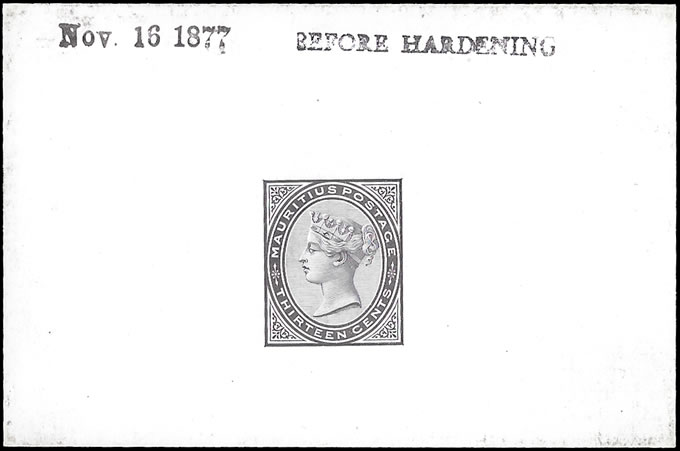 Mauritius 1879 QV 13c Die Proof Before Hardening