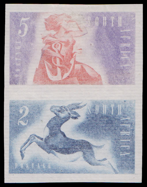 SOUTH AFRICA 1953 KONYA ESSAYS COMPOSITE PAIR VARYING COLOURS