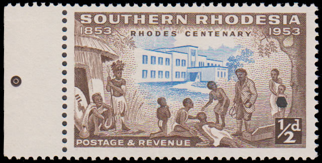 Southern Rhodesia 1953 ½d Rhodes Centenary File Proof