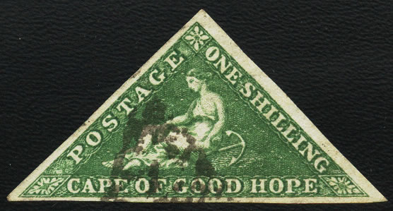 CAPE OF GOOD HOPE 1855 1/- TRIANGLE NICE USED