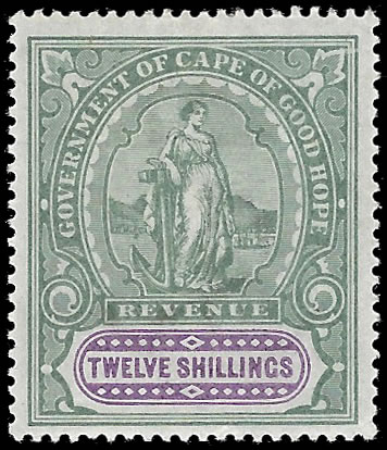 CAPE OF GOOD HOPE 1898 QV 12/- VF/M, SCARCE