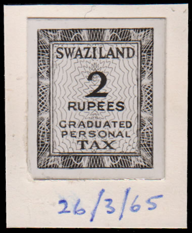 SWAZILAND REVENUES 1965 PRINTERS RECORD BOOK PHOTO-ESSAY